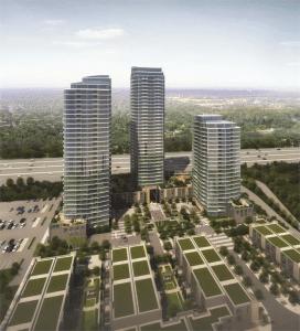 Three high rise condo buildings