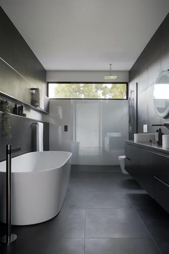 bathroom and fixtures