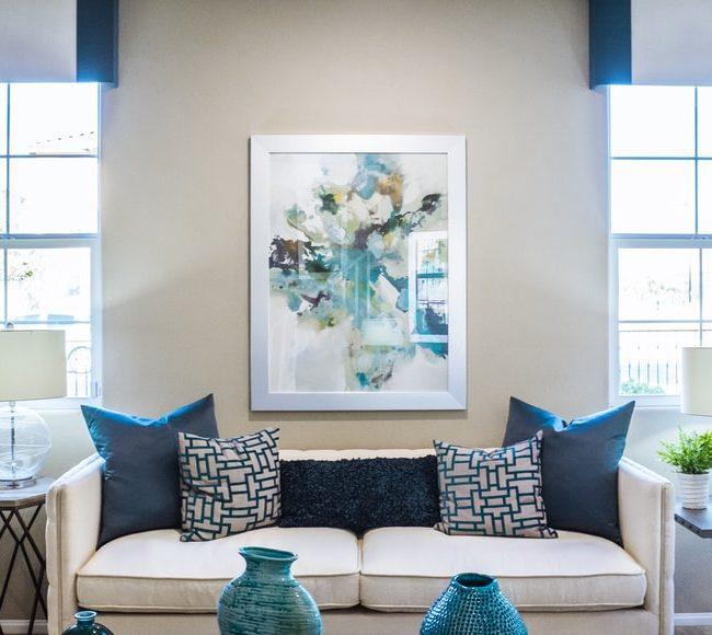 cozy living room setup