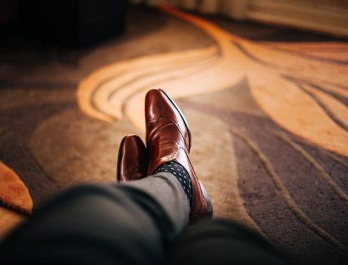 feet on carpeted floor
